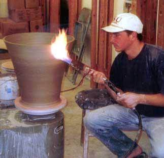 Torching pot.