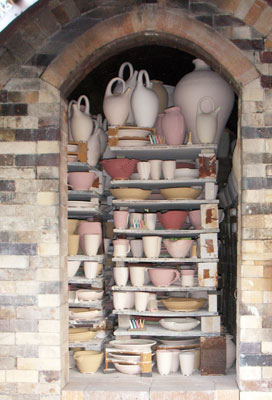 The Salt Chamber loaded with pottery.